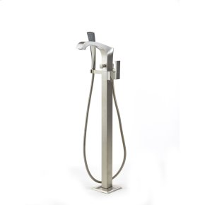 Single Supply Floor Tub Filler Hudson (series 14) Satin Nickel
