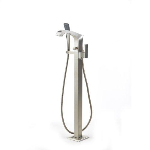 Single Supply Floor Tub Filler Leyden (series 14) Satin Nickel
