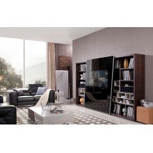 Modrest K532 Modern Brown Oak & Grey Entertainment Center