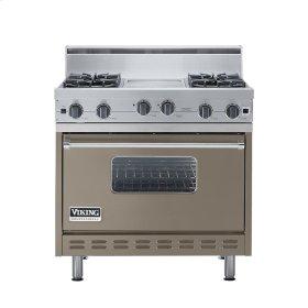 "Stone Gray 36"" Open Burner Range - VGIC (36"" wide, four burners 12"" wide griddle/simmer plate)"
