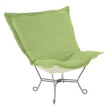 Scroll Puff Chair Linen Slub Grass Titanium Frame