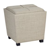2-piece Ottoman Set With Tray Top In Milford Toast Fabric