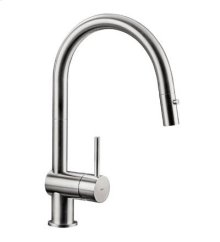 Vela D : iconic kitchen faucet with dual spray pull out.