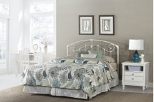 Maddie Full/queen Headboard With Rails - Glossy White