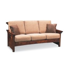 B&O Railroade Trestle Bridge Sofa, Leather Cushion Seat