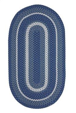 Out East Blue Steel Braided Rugs (Custom)