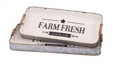 Farm Fresh Decorative Trays - Set of 2