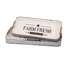 Farm Fresh Decorative Trays - Set of 2