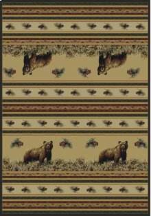 Marshfield Genesis Pine Creek Bear Rugs