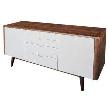 Massimo Sideboard 4 Drawers + 2 Doors, Gray/Walnut