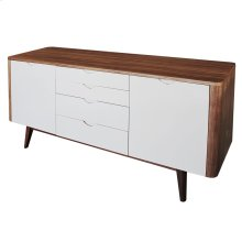 Massimo Sideboard 4 Drawers + 2 Doors, Gray/Walnut