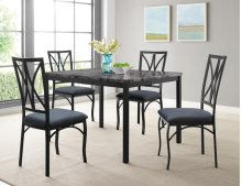 Zeus Casual 5 Piece Dining Set