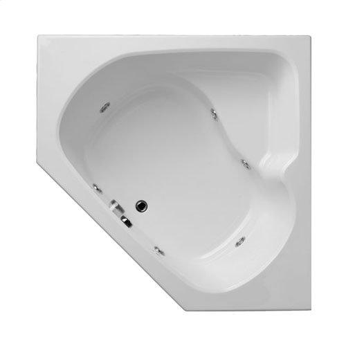 "Easy-Clean High Gloss Acrylic Surface, Corner, Whirlpool Bathtub, Standard Package, 60"" X 60"""
