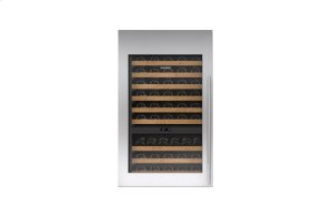"""Integrated Stainless Steel 30"""" Tall Wine Storage Door Panel with Tubular Handle - Left Hinge"""