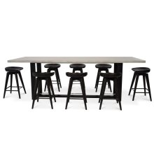Sled Gathering Table (with Harley CounterStools)