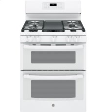 "Scratch and Dent GE® 30"" Free-Standing Gas Double Oven Convection Range"