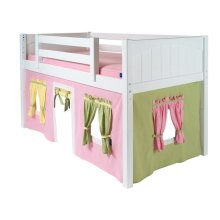 Under Bed Curtain : Soft Pink/Green/Soft Yellow