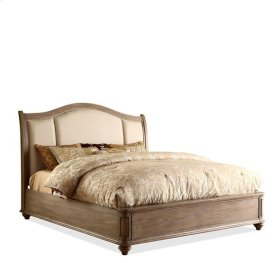 Coventry Queen/King Sleigh/Storage Bed Rails Weathered Driftwood finish