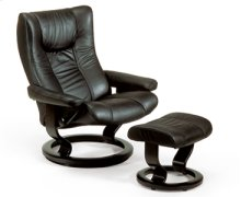 Stressless Wing Medium Recliner Chair and Ottoman