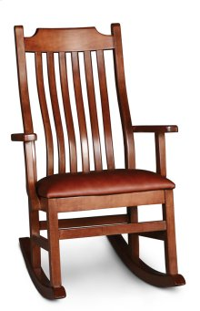 Urbandale Arm Rocker with Cushion Seat, Leather Cushion Seat