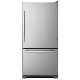 22 cu. ft. Bottom-Freezer Refrigerator with Large Capacity - stainless_steel