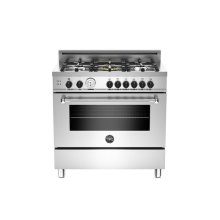 Stainless 36 5-Burner, Gas Oven LP