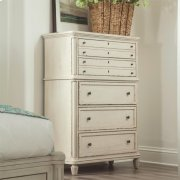 Huntleigh - Five Drawer Chest - Vintage White Finish Product Image
