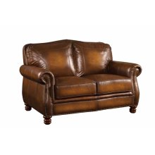 Montbrook Traditional Hand Rubbed Brown Loveseat
