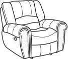 Crosstown Leather Gliding Recliner Product Image