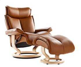 Stressless Magic Small Recliner and Ottoman