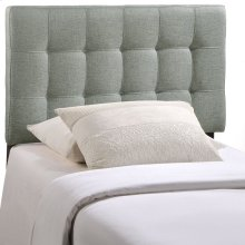 Lily Twin Tufted Upholstered Fabric Headboard in Gray