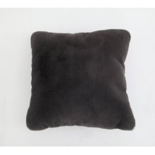 Chinchilla Faux Pillow charcoal gray Rug
