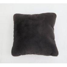 Chinchilla Faux Pillow charcoal gray Rug