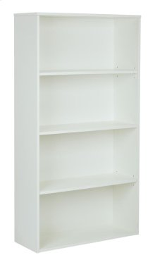 """Prado 60"""" 4-shelf Bookcase With 3/4"""" Shelves and 2 Adjustable/ 2 Fixed Shelves In White"""