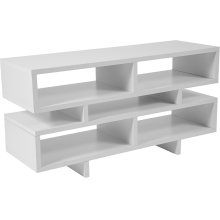 Highgate White Finish TV Stand and Media Console
