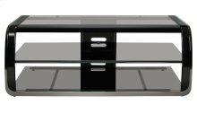 Versatile Two-tone Black Finish Audio/Video Furniture