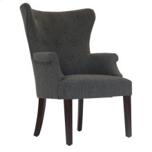 Seville Grey Upholsted Button Tufted Wingback Chair