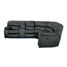 4-Piece Modular Power Reclining Sectional with LAF Console and LED