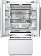 "Three-door bottom freezer with integrated ice maker RY 492 701 with temperature controlled drawer fully integrated Width 36"" (91.4 cm) Product Image"