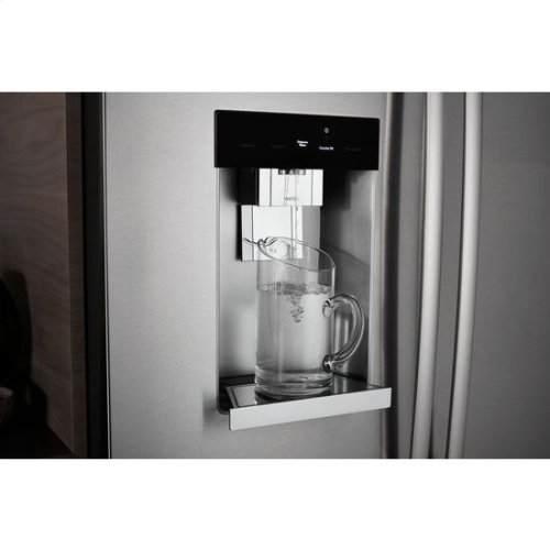 """72"""" Counter-Depth French Door Refrigerator with Obsidian Interior"""