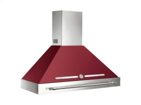 48 Wallmount Canopy and Base Hood, 1 motor 600 CFM Matt Burgundy