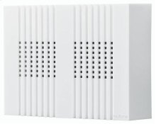 "Decorative Wired Door Chime, 8""w x 6""h x 2-1/4""d, in White"