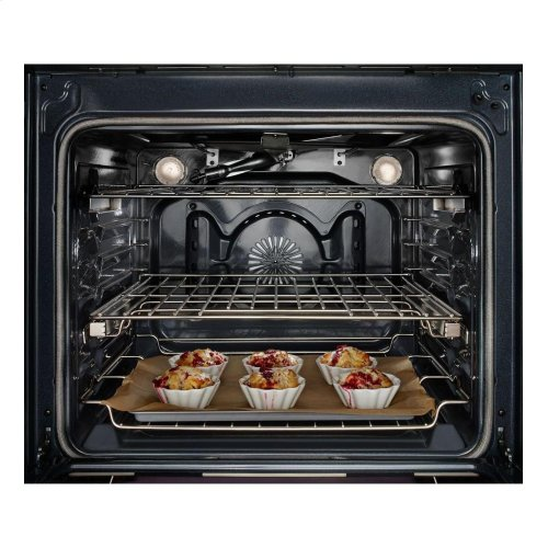 30-Inch 5 Burner Gas Convection Slide-In Range with Baking Drawer - Black