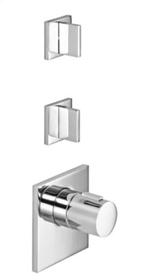 xTOOL thermostat with two volume controls - chrome