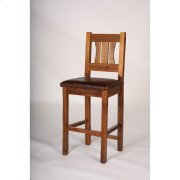 Stony Brooke Bar Stools, 24 and 30 Inch With Leather Seat Product Image