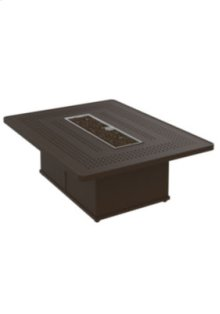 "Boulevard 54"" x 42"" Rectangular Fire Pit, Manual Ignition"