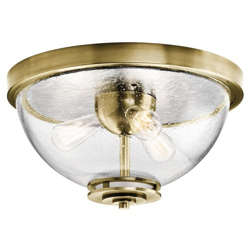 Silberne Collection Silberne 3 Light Flush Mount in Natural Brass NBR
