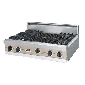 "Taupe 36"" Sealed Burner Rangetop - VGRT (36"" wide, four burners 12"" wide char-grill)"