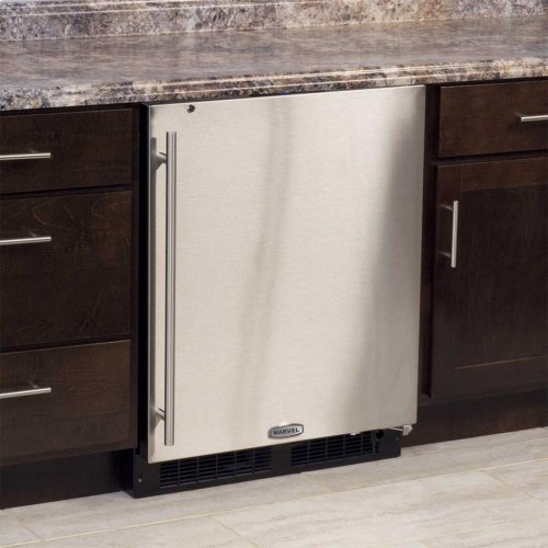 "24"" ADA Height All Refrigerator - Solid Stainless Steel Door - Left Hinge"