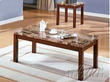 3pc Pack Faux Marble Top Coffee/End Table